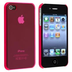 INSTEN Clear Pink Slim-fit Snap-on Phone Case Cover for Apple iPhone 4/ 4S