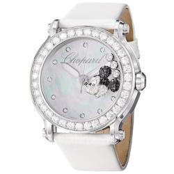 Chopard Women's 288524-3005 LWH 'Happy Sport Round' Mickey Mouse Diamond Watch