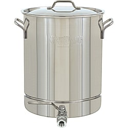 Bayou Classic 8-gallon Stainless Steel Stockpot with Spigot