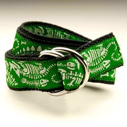 Green Dino Riffic Kids D-Ring Belt
