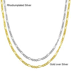 Fremada Sterling Silver 18-inch Figaro Chain