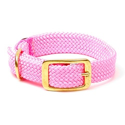 Mendota Double-Braided Hot Pink Pet Collar