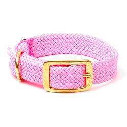 Mendota Double-Braided Hot Pink Pet Collar