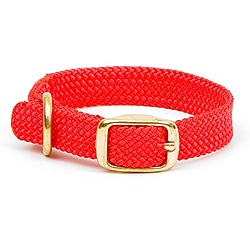 Double-Braided Junior Adjustable Red Pet Collar
