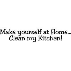 Design on Style 'Make yourself at home Clean my Kitchen' Vinyl Art Quote