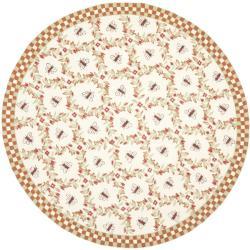 Safavieh Hand-hooked Bees Ivory/ Rust Wool Rug (8' Round)