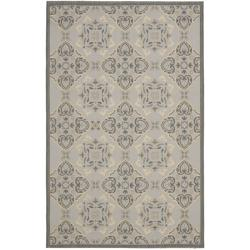 Safavieh Light Grey/Anthracite Traditional-Motif Indoor/Outdoor Rug (8' x 11'2)
