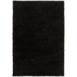 Woven Black Luxurious Soft Shag Rug