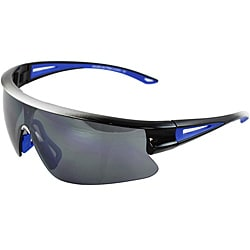 Unisix Silver/ Black Sports Sunglasses