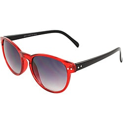 Retro Round Unisex Red/Black Sunglasses