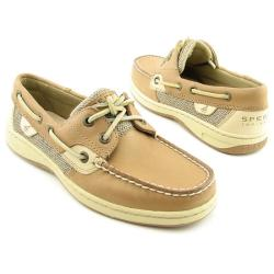 SPERRY TOP SIDER Women's Bluefish 2 Eye Brown Flats & Oxfords
