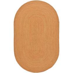 Safavieh Hand-woven Reversible Peach/ Green Braided Runner (8' x 10' Oval)