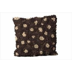 Mina Victory by Nourison Chocolate Felt 20-inch Decorative Pillow