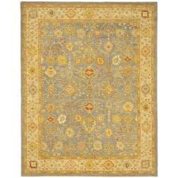 Safavieh Handmade Oushak Slate Blue/ Ivory Wool Rug (11' x 17')