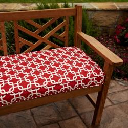 Penelope Red 60-inch Outdoor Bench Cushion