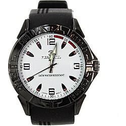 Pierre Jill Men's 'Hevea' Black Silicone Watch