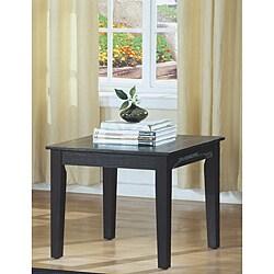 Black Oak Veneer End Table