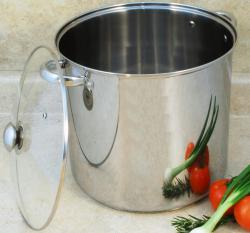 Encapsulated Base Stainless Steel 20-quart Stockpot