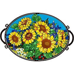 Joan Baker Hand Painted Sunflower Field Tray