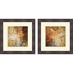 Michael Marcon 'Oxide Burst I & II' Framed Print