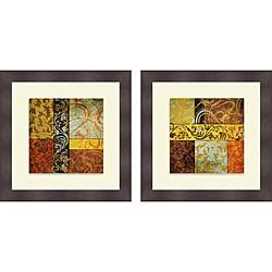 Elizabeth Medley 'Harmonic Melody I & II' Framed Print