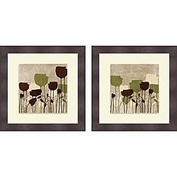 Patricia Pinto 'Floral Simplicity I & II' Framed Print