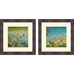 Patricia Pinto 'Thinking Green I & II' Framed Print