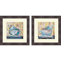 Elizabeth St. Hilaire Nelson 'For Two on Neutral & For Tea on Neutal' Framed Print