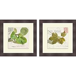 Deborah Schenck 'Maple Leaf & Apple Leaf' Framed Print
