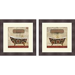Pela Studio 'Postcard Bath I & II' Framed Print