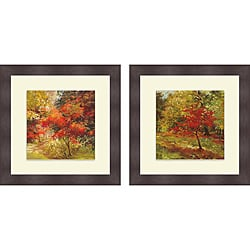 Nel Whatmore 'Autumn Trail And All the World it Whispered' Framed Print