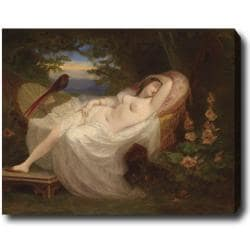 Ludwig Thibeaux 'Vienna Female Nude Reclining' Hand-painted Oil on Canvas Art 9084860