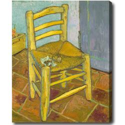 Vincent Van Gogh 'Vincent's Chair with His Pipe' Hand-painted Oil on Canvas