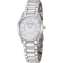 Emporio Armani Women's AR3168 'Slim' Mother of Pearl Dial Quartz Watch
