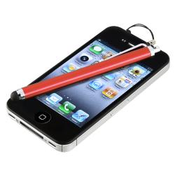 INSTEN Red Touch Screen Stylus for Apple iPhone/ iPad/ iPhone