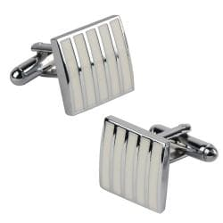 Zodaca White Rectangle Cufflinks