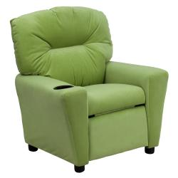 Flash Furniture Contemporary Avocado Microfiber Kids Recliner with Cup Holder 9089877