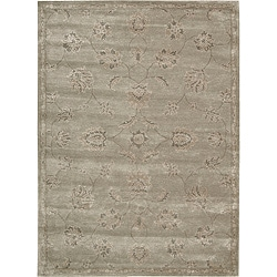 Nourison Hand-tufted Superlative Grey Rug ( 5'6 x 7'5 )
