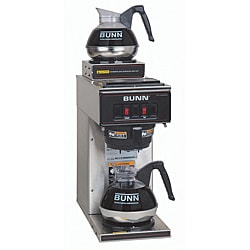Bunn Stainless Steel Pourover Commercial Coffee Brewer with Two Warmers