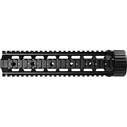 Black Barska AR Forend 10-inch 22-section Aluminum Quad Rail Gun Scope
