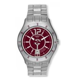 Swatch Men's Stainless Steel Red Dial Watch