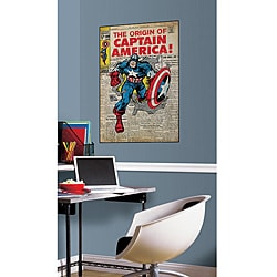 RoomMates Captain America Peel and Stick Comic Cover Decal 9096697