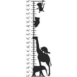 Kid's Room Cute Animals Growth Chart Vinyl Wall Decal