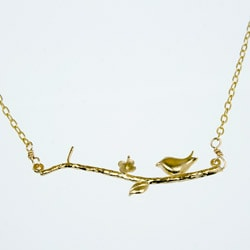 Bird Branch Gold 16-inch Necklace