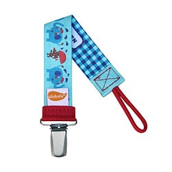 Ulubulu Personalized Pacifier Clip in Elephant Showers