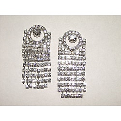 Detti Originals Circle Top Crystal Dangle Earrings