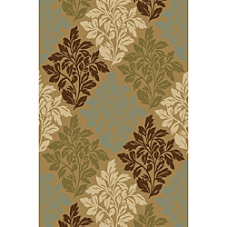 Bradford Floral Natural Non-skid Rug (2' x 3'3)