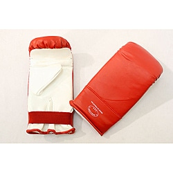 Defender Red/ White Large MMA Style Punching Gloves
