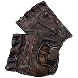 Defender Brown XX-Large Leather Fingerless Gloves 9124378