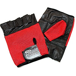 Defender Red Large Leather Fingerless Gloves 9124386